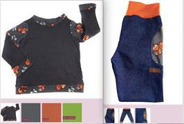 Rundhalsshirt Kuschel mit passender Jeans