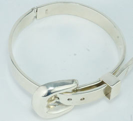 Gürtelförmiges Armband, verstellbar , Silber 950, / Belt-shaped bracelet, adjustable, silver 950