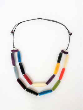 "Tagua-Kette ""Daniella"" bunt/ Tagua Necklace ""Daniella"" coloured"