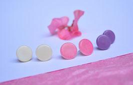 "Tagua-Ohrring ""Topepi"" lila/ Tagua earrings ""Topepi"" purple"