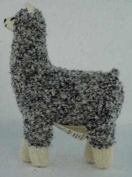 """Kuscheltier """"Alpaquita-Apaloosa"""" gesprenkelt, naturweiß-grau / Plush toy """"Alpaquita-Apaloosa"""" speckled, natural white-grey"""