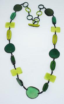"""Tagua-Kette """"Helena long"""" grün/  Tagua Necklace """"Helena long"""" green"""