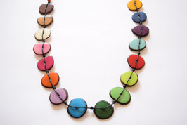 "Tagua-Kette ""Mirna long"" bunt/ Tagua Necklace ""Mirna long"" coloured"