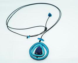 Taguakette Agnes blau/ Tagua Necklace Agnes blue