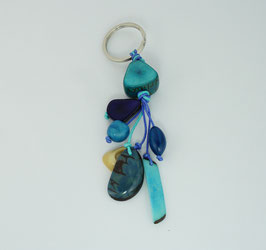 """Tagua-Schlußelanhänger """"Charms"""" türkis/ Tagua key ring """"Charms"""" turquoise"""