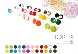 "Tagua-Ohrring ""Topepi"" hellblau/ Tagua earrings ""Topepi"" light blue"