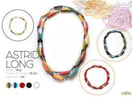 """Tagua-Kette """"Astrid long""""  weiß/ Tagua Necklace """"Astrid long"""" white"""