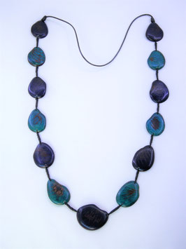 "Tagua-Kette ""Patricia"" blau/ Tagua Necklace ""Patricia"" blues"