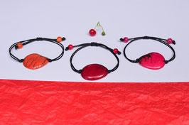 "Armband ""Conchapu"" fuchsie, verstellbar/ Bracelet ""Conchapu"" , fucsia, adjustable"