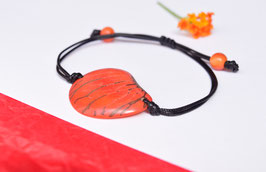 "Armband ""Conchapu"" ,orange, verstellbar/ Bracelet ""Conchapu"" , orange, adjustable"