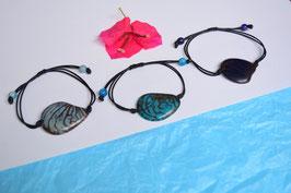 "Armband ""Conchapu"" dunkel blau, verstellbar/ Bracelet ""Conchapu"" , dark blue, adjustable"