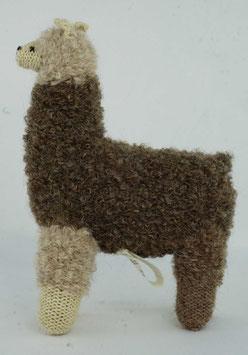 "Kuscheltier ""Alpaquita-Apaloosa"" beige-braun / Plush toy ""Alpaquita-Apaloosa"" beige brown"