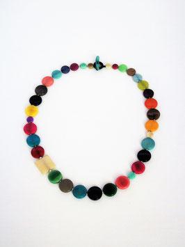 """Tagua-Kette """"Mia"""" bunt/ Tagua Necklace """"Mia"""" colours"""