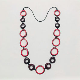 "Tagua-Kette ""Calima"" rot/ Tagua Necklace ""Calima"" red"