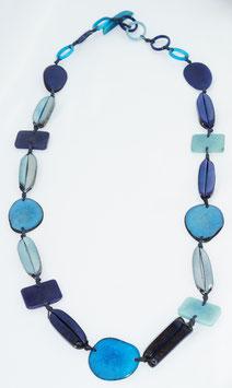 """Tagua-Kette """"Helena long"""" blau/  Tagua Necklace """"Helena long"""" blue"""