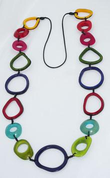 """Tagua-Kette """"Calima"""" bunt/ Tagua Necklace """"Calima"""" coloured"""