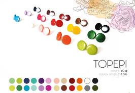 """Tagua-Ohrring """"Topepi"""" dunkelgrün/ Tagua earrings """"Topepi"""" dark green"""