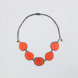 "Tagua-Kette ""Carmela"" orange/ Tagua Necklace ""Carmela"" orange"