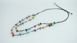 "Tagua-Kette ""Zara"", bunt/ Tagua Necklace ""Zara"" coloured"