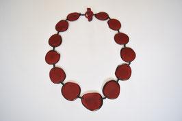 "Tagua-Kette ""Carlota"" wein-rot/ Tagua Necklace ""Carlotta"", wine-red"