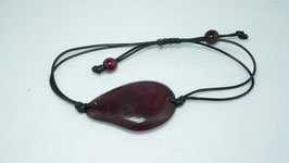 "Armband ""Conchapu"" wein-rot, verstellbar/ Bracelet ""Conchapu"" , wine-red, adjustable"