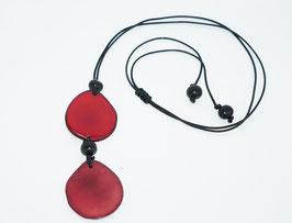 """Tagua-Kette """"Kira"""" rot/ Tagua Necklace """"Kira"""" red"""