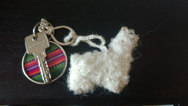 """Alpaquita """"Chiquitita"""" , als Schlüssel-oder Rucksackanhänger oder als Schmuck für den Weihnachtsbaum oder Osterstrauß, 5 cm"""