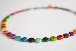 "Tagua-Kette  ""Pitty""  bunt/ Tagua Necklace ""Pitty"" colours"