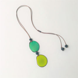"Tagua-Kette ""Kira"" lime-mint/ Tagua Necklace lime-mint"