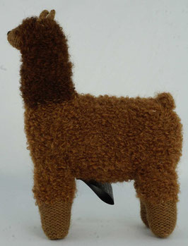 "Kuscheltier ""Alpaquita-Apaloosa"" hellbraun-braun / Plush toy ""Alpaquita-Apaloosa"" bright brown-brown"