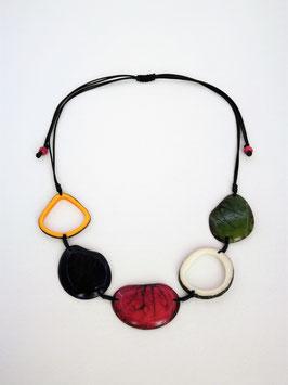 "Tagua-Kette ""Carolina"" bunt, verstellbar / Tagua Necklace ""Carolina"" colours, adjustable"