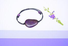 "Armband ""Conchapu"" ,lila, verstellbar/ Bracelet ""Conchapu"" , purple, adjustable"