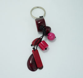 """Tagua-Schlußelanhänger """"Charms"""" rot/ Tagua key ring """"Charms"""" rot"""