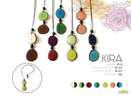 "Tagua-Kette ""Kira"" mint/ Tagua Necklace ""Kira"" mint"