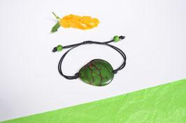 "Armband ""Conchapu"" dunkel grün, verstellbar/ Bracelet ""Conchapu"" , dark green, adjustable"