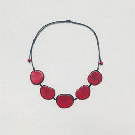 """Tagua-Kette """"Carmela"""" rot/ Tagua Necklace """"Carmela"""" red"""