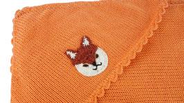 Baby-Decken bestickt mit Tiermotiven /  Blanket with embroidered animal motifs