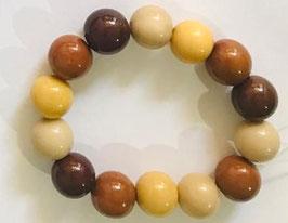"Armband ""Bombona"" braun-beige / Bracelet ""Bombona""  brown-beige"
