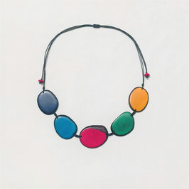 "Tagua-Kette ""Carmela"" bunt/ Tagua Necklace ""Carmela"" coloured"
