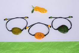 "Armband ""Conchapu"" , apfelgrün, verstellbar/ Bracelet ""Conchapu"" , appel green, adjustable"