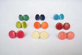 "Tagua-Ohrringe ""Toclari"" orange/ Tagua earrings ""Toclari"" orange"