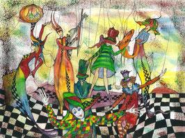 """Kunstkarte """"Tanz der Puppen"""" Artikelnummer: 1003"""