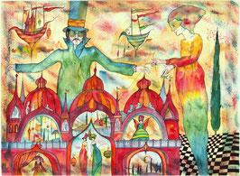 "Kunstkarte ""Palastspiele"" Artikelnummer: 1008"