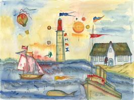 """Kunstkarte """"Meerlandschaft"""" Artikelnummer: 1004"""