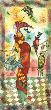 """Kunstkarte """"die schöne Fischerin"""" Artikelnummer: 1035"""