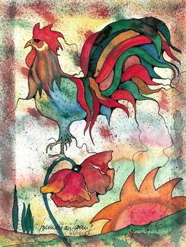 """Kunstkarte """"Sonnenaufgang"""" Artikelnummer: 1032"""