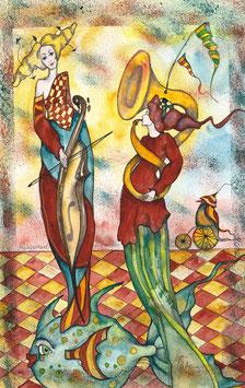 Musizierende Damen