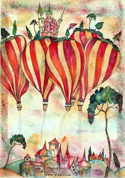 """Kunstkarte """"Himmelwärts"""" Artikelnummer: 1026"""