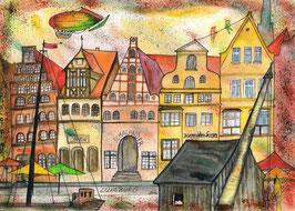 """Kunstkarte """"Lüneburg - Stint"""" Artikelnummer: 1018"""
