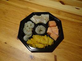 Standaard gourmetschotel per persoon, vlees, vis of combi.